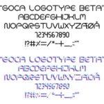 フリーのデザインフォント GOCA LOGOTYPE BETA
