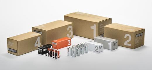 アスクルのシンプルでわかりやすい機能的な乾電池