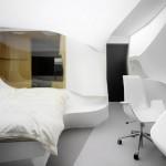 未来のホテルはこんな感じなんだろうか。